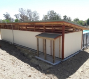 Tasman School Pool Changing Shed open ceiling