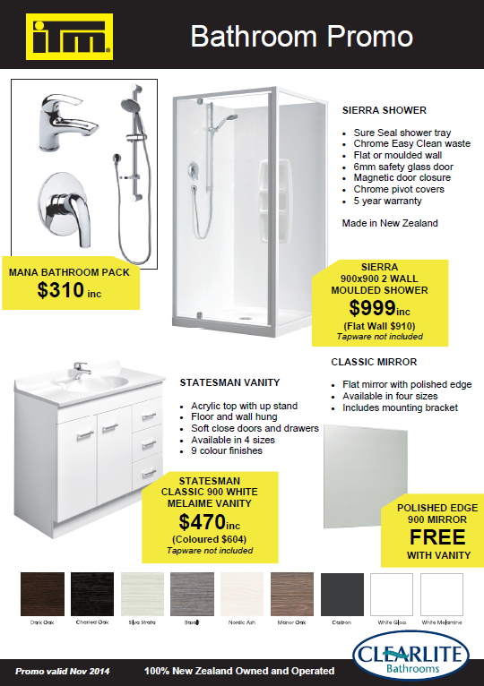 ITM Motueka Bathroom promotion