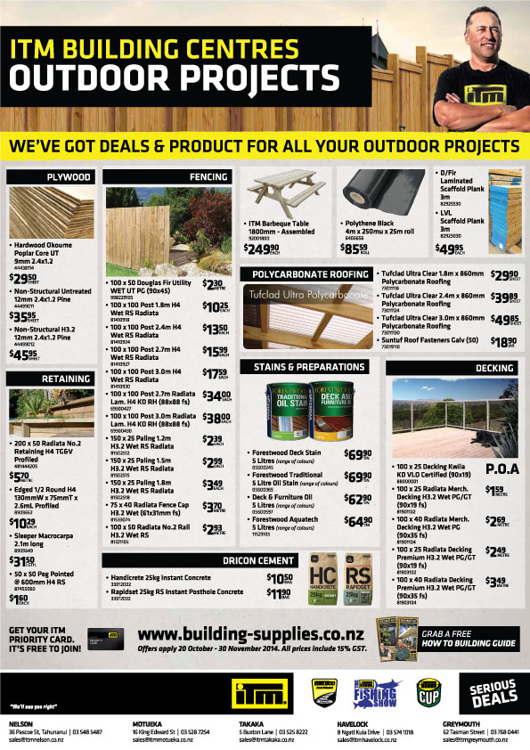 ITM Outdoor Projects flyer