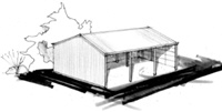 Gable shed sketch