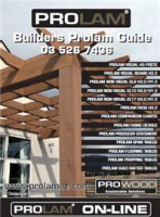 PROLAM Builders Guide to specs and spans