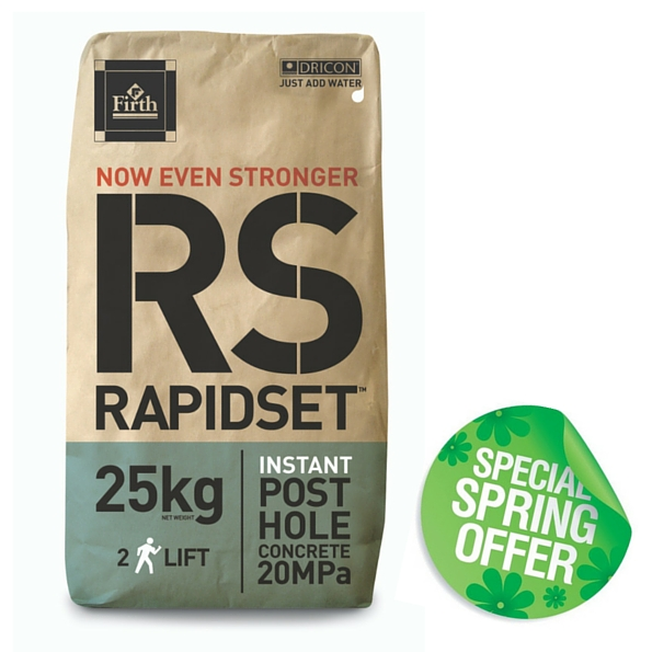 Rapidset Concrete - Special Spring Offers