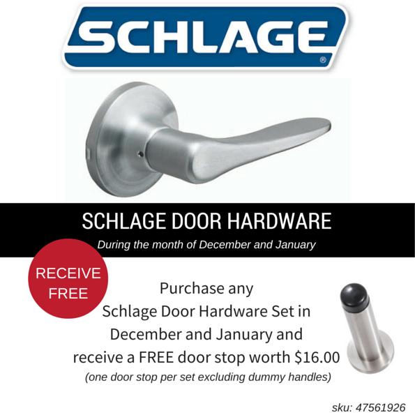 Schlage Door Hardware offer at Motueka ITM