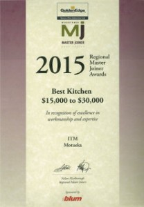Master Joiner Award - Kicthen $15,000 to $30,000
